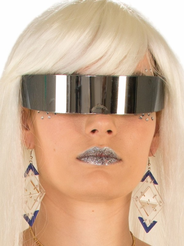 MIRROR WRAP AROUND SHIELD FUTURISTIC GLASSES
