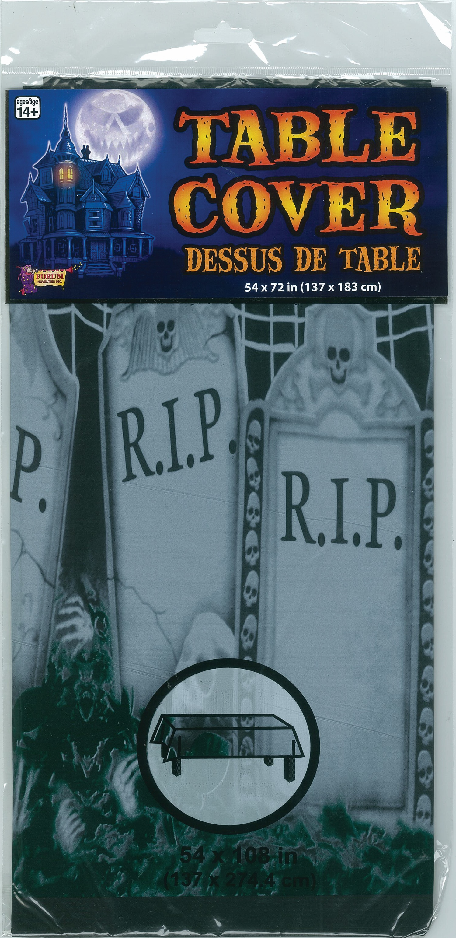 GRAVEYARD DESIGN TABLECOVER