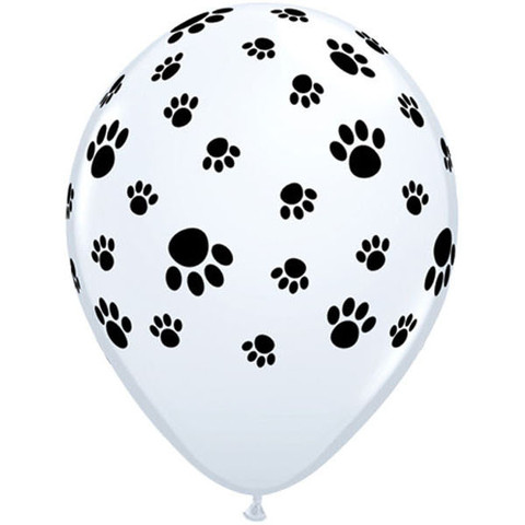 BALLOONS LATEX - PAW PRINT PACK 6