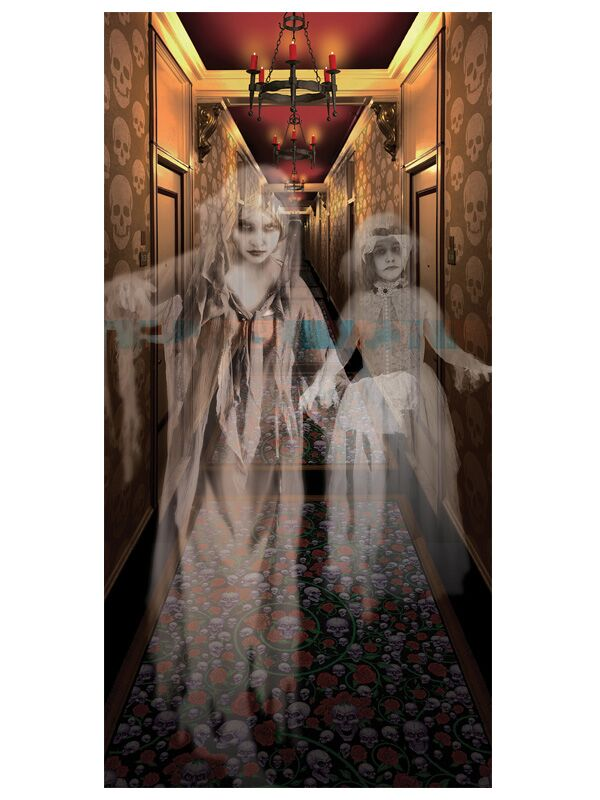 HALLWAY HAUNTED HOUSE SPIRITS POSTER DECORATION