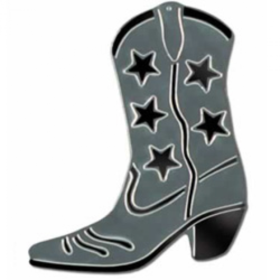 COWBOY BOOT CUT OUT - SILVER