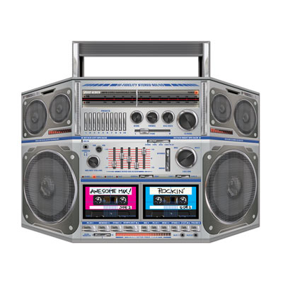 AWESOME 80\'S STAND UP BOOM BOX CUT OUT