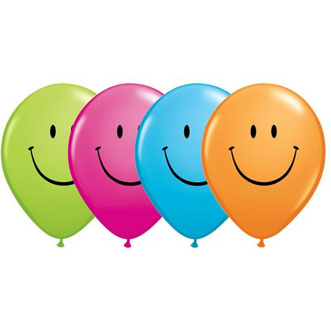 BALLOONS LATEX - SMILEY FACE PACK OF 25