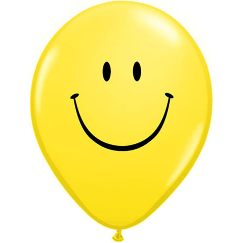 BALLOONS LATEX - SMILEY FACE PACK OF 6