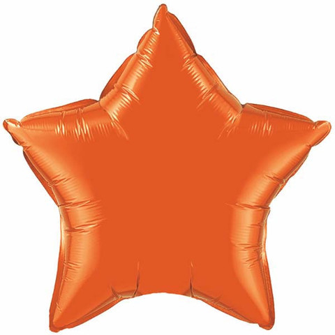 FOIL BALLOON STAR SHAPE - ORANGE
