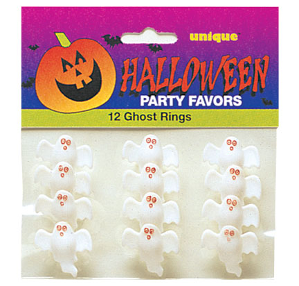 PARTY FAVOURS - GHOST RINGS PACK OF 12