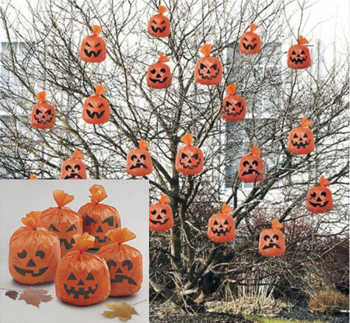 HALLOWEEN HANGING PUMPKIN DECORATIONS - PACK OF 20