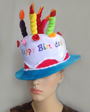 BIRTHDAY CANDLE HAT - WHITE