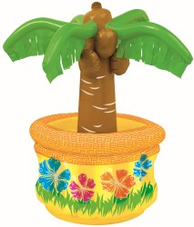 INFLATABLE TABLE TOP PALM TREE DRINK COOLER