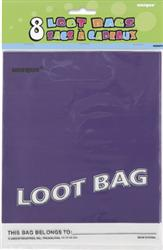 PARTY LOOT BAGS - PURPLE PK 8
