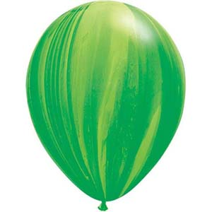 BALLOONS LATEX - SUPER AGATE GREEN PACK OF 25