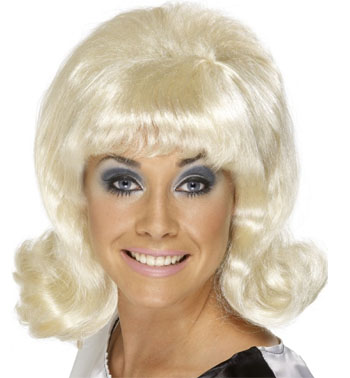 1960'S LADY BLONDE FLICK UP WIG
