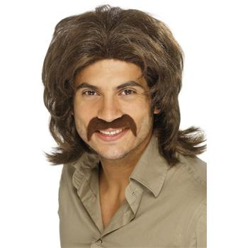 COOL 70'S GUY BROWN WIG