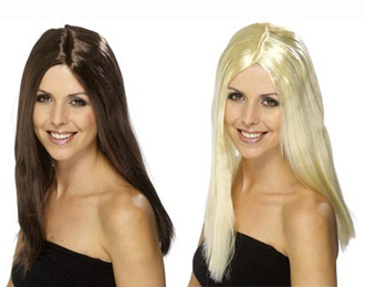 'CHER' TYPE BROWN OR BLONDE LONG WIG NO FRINGE