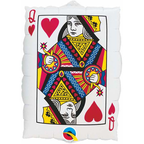 FOIL SUPER SHAPE BALLOON - CASINO PLAYING CARDS
