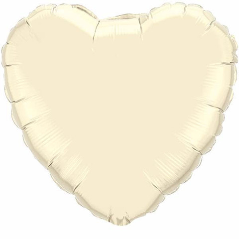 FOIL BALLOON HEART SHAPE - IVORY