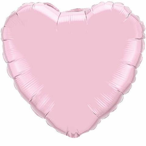 FOIL BALLOON HEART SHAPE - PALE PINK