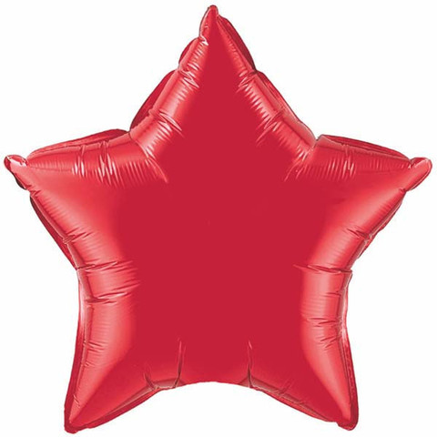 FOIL BALLOON STAR SHAPE - RUBY RED