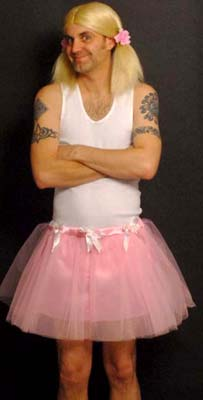 ADULT MAN TUTU WITH BOWS - PINK