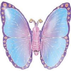FOIL SUPER SHAPE BALLOON - PRISMATIC BUTTERFLY