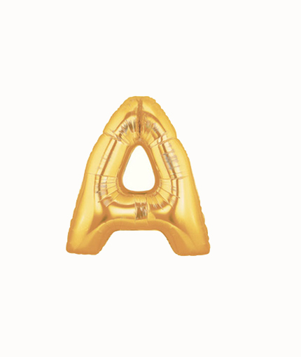 FOIL BALLOON SUPER SHAPE LETTER A - GOLD