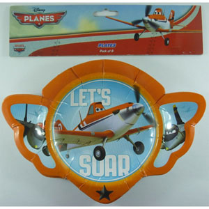 DISNEY PLANES PARTY PLATES PACK OF 8