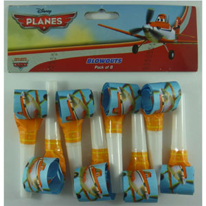 DISNEY PLANES PARTY BLOWOUTS PACK OF 8