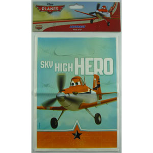 DISNEY PLANES PARTY LOOT BAGS PACK OF 8