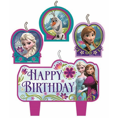 DISNEY FROZEN BIRTHDAY CANDLE - PACK OF 4