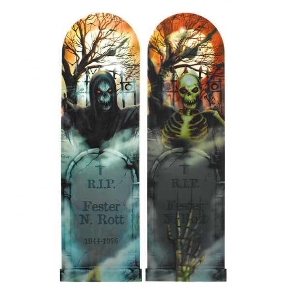 SPOOKY LENTICULAR TOMBSTONE SIGN - 2 left Only