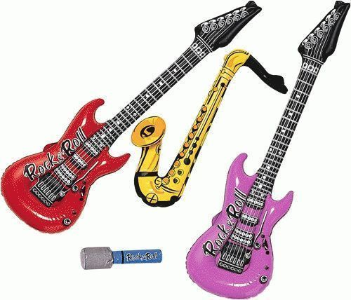 INFLATABLE MUSICAL INSTRUMENTS SET WITH MICROPHONE