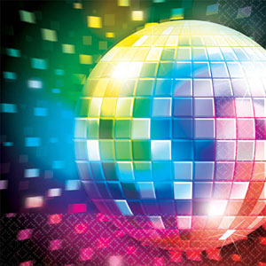 DISCO FEVER COCKTAIL NAPKINS PACK OF 16