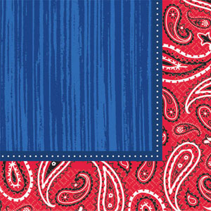 BANDANA & BLUE JEANS COCKTAIL NAPKINS PACK OF 16