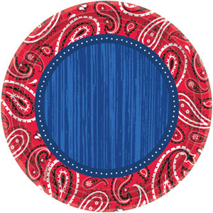 BANDANA & BLUE JEANS LUNCH PLATES PACK OF 8