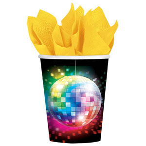 DISCO FEVER PAPER CUPS PACK OF 8