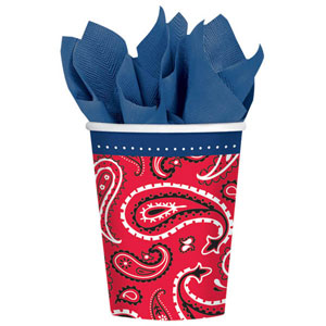 BANDANA & BLUE JEANS PAPER CUPS PACK OF 8