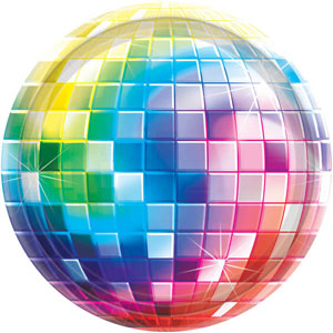 DISCO FEVER DINNER PLATES PACK OF 8