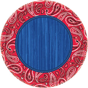 BANDANA & BLUE JEANS DINNER PLATES PACK OF 8