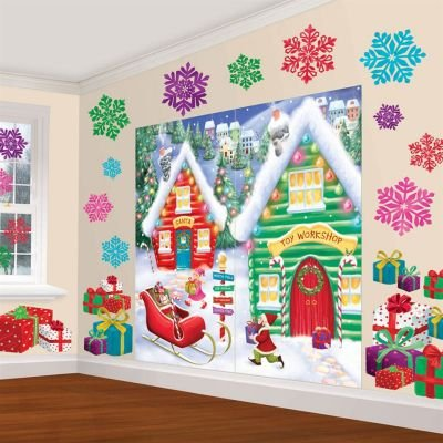 SCENE SETTER - NORTH POLE WALL DECORATING KIT