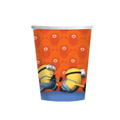 MINION PARTY CUPS - PACK OF 8