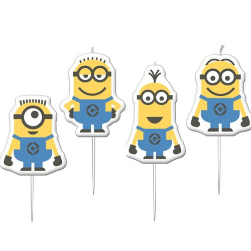 MINION PARTY CANDLES - SET OF 4