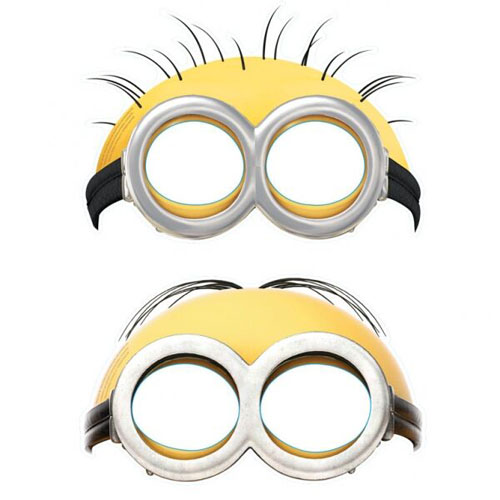 MINION PARTY MASKS - PACK OF 6