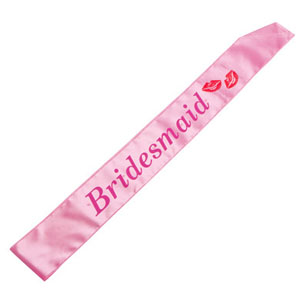 BRIDAL SASH - BRIDESMAID FLASHING LIGHTS SOFT PINK