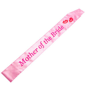 BRIDAL SASH - MOTHER OF THE BRIDE FLASHING LIGHTS SOFT PINK