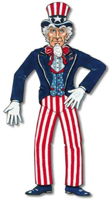 Image of American Uncle Sam Jointed Figure  Jointed