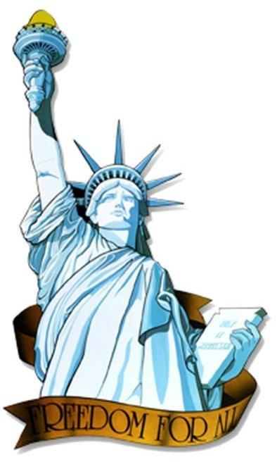 Image of American Miss Liberty Cut Out