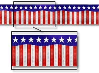 AMERICAN STARS AND STRIPES METALLIC BANNER