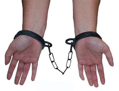 SHACKLES/HAND CUFFS - RUBBER