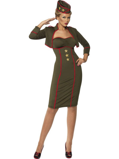 ARMY GIRL FANCY DRESS COSTUME - SIZE LARGE