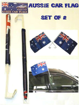 AUSSIE CAR FLAGS SET OF 2